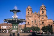 Die Plaza de Armas in Cusco.